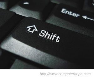 my shift key